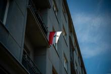 Flaga RP Polski Z Symbolem Na ...
