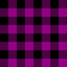 Tartan Plaid. Scottish Pattern In Black And Purple Cage. Scottish Cage. Traditional Scottish Checkered Background. Seamless Fabric Texture. Vector Illustration