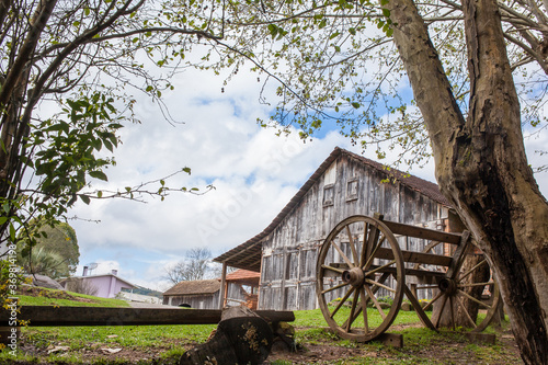 An old wooden house at Rio Grande do Sul - Brazil