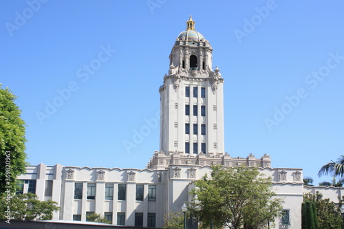 Valokuvatapetti Typical californian building with a tower, California, USA, United States, America