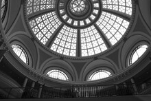 Close-up Of The Roof Of The City Hall, In Black And White, Monochrome, In San Francisco, California, America.