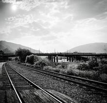 Train Tracks Running Through G...