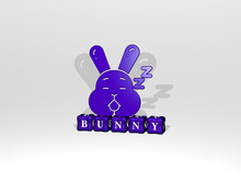 3D Graphical Image Of Bunny Ve...