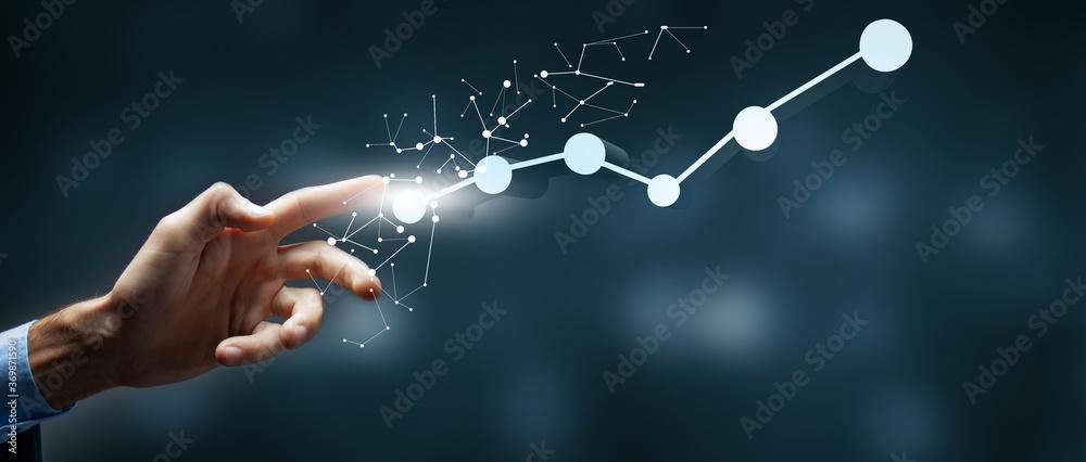 Fototapeta business concept start from scratch to peak of career success.3D illustration