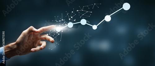 Obraz business concept start from scratch to peak of career success.3D illustration - fototapety do salonu