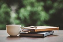 Hot Coffee, Smoke, With Books ...