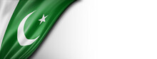 Pakistan Flag  Isolated On A White Banner Background