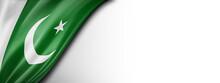 Pakistan Flag  Isolated On A W...