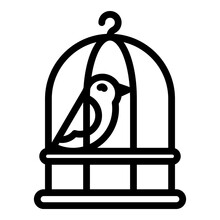 Quail Cage Icon. Outline Quail Cage Vector Icon For Web Design Isolated On White Background