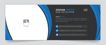 Business Email Signature Corporate Vector Sign Template Modern Layout Email Signature Vector Banner