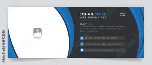 Business Email Signature Corporate vector sign template modern layout email sign Fotobehang