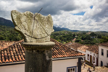 Sundial At Saint Antonio Church At Tiradentes - Minas Gerais - Brazil