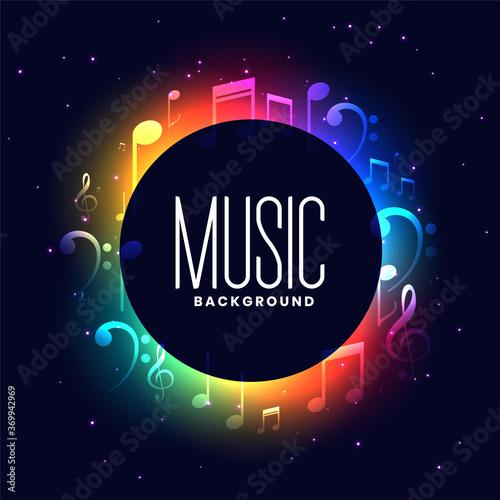 Obraz na plátne colorful musical festival background with music notes design