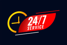 24 Hour And 7 Days Service Bac...