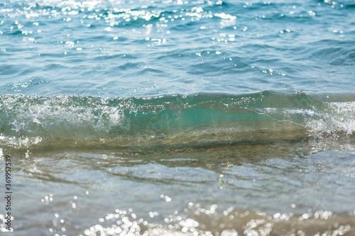 Obraz Wave of the Sea on a Beach - fototapety do salonu