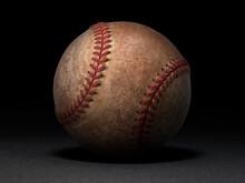 Baseball Ball On Black Backgro...