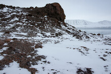Frozen Landscape Near The Arctic Ocean