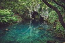 Natural Cave And Lake