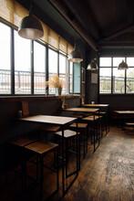 Interior Of Empty Dark Cafe