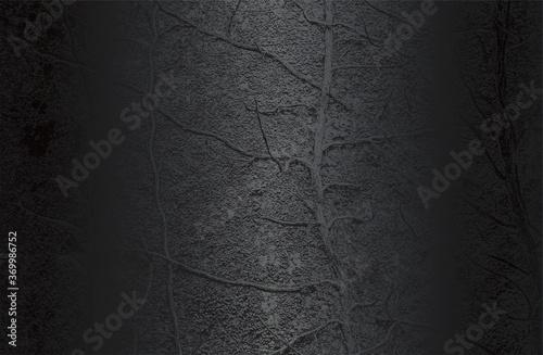 Obraz Luxury black metal gradient background with distressed closeup leaf texture with streaks. - fototapety do salonu