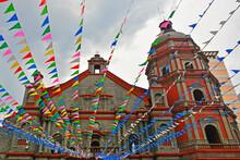 Binondo Church Facade In Manila, Philippines