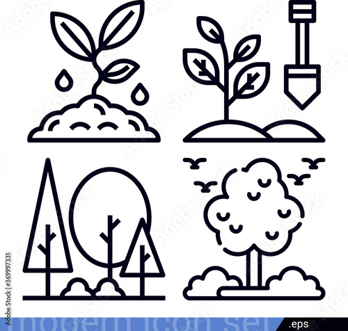 Jesse related lineal vector icons Wallpaper Mural