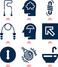 Simple Set Of  9 Filled Icons ...