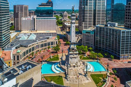 Aerial Photos of Indianapolis Indiana and it's wonderful Circle Center and Monument Circle Slika na platnu