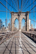 Nobody on the Brooklyn Bridge, New York City