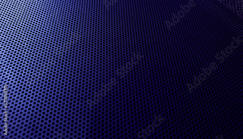 abstact gradient blue perforated metal background for technology or industrial concept Fototapet