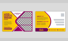 Multi Purpose Real Estate Postcard Or EDDM Postcard Template Layout.