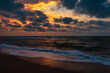 Beautiful colorful sunset on the sea, summer beach
