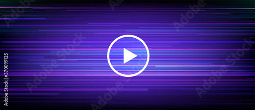 Slika na platnu Digital streaming banner with dynamic motion lines