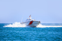 Coast Guard Patrol Boat Rushin...