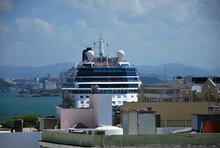 Kreuzfahrtschiff Im Hafen Von San Juan, Puerto Rico