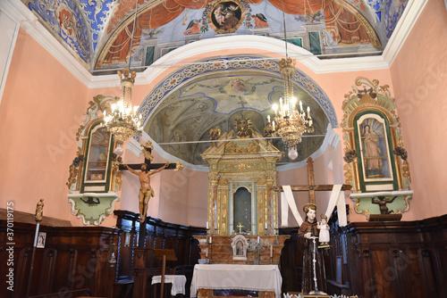 Fototapeta Choeur de la confrérie Saint Antoine à Santa Reparata di Balagna, Cor
