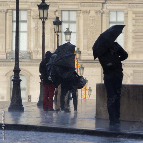 Tablou Canvas Paris sous la pluie