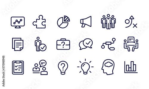 Fototapeta Business Consulting Icons obraz na płótnie