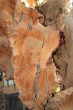 Wood Carving Of Buddha