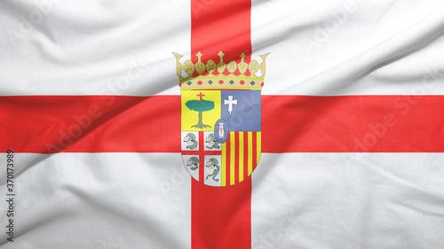 Zaragoza province of Spain flag