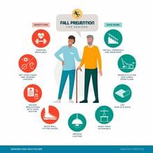 Senior Fall Prevention Tips Infographic