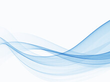 Blue Abstract Lines Swoosh Wave Smooth Wave Border Background Wave Blue Flow