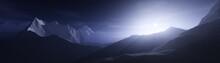 Sunrise In The Mountains, Moun...