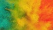 Super Slow Motion Shot of Rainbow Color Powder Explosion Isolated on Black Background at 1000fps.
