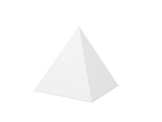 3d packaging pyramid on a white background. 3d render illustration.