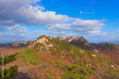 Fototapety, obrazy: Autumn at Dobongsan mountain, Bukhansan National Park, South Korea