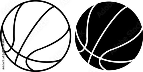 basketball ball vector Fototapet