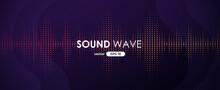 Sound Wave. Digital Music Equa...