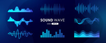 Sound Wave Set. Digital Music ...