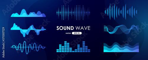 Fotomural Sound wave set